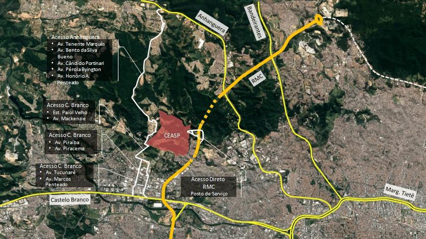 Com acesso pelo Rodoanel, grupo empresarial do Ceasp garante que não haverá impactos em Alphaville ou no entorno