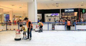 patinação no gelo shopping