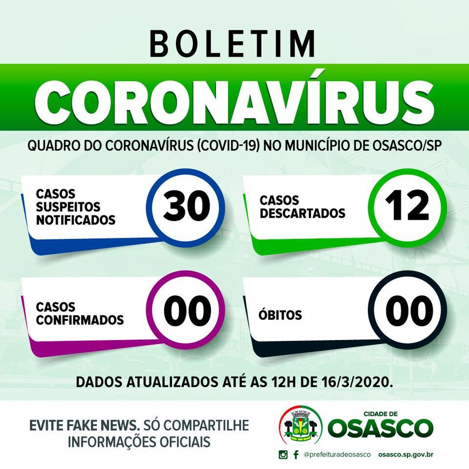coronavírus osasco