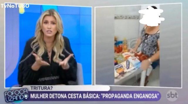Lívia Andrade, do fofocalizando, do SBT, detona mulher que reclamou da cesta básica em Osasco
