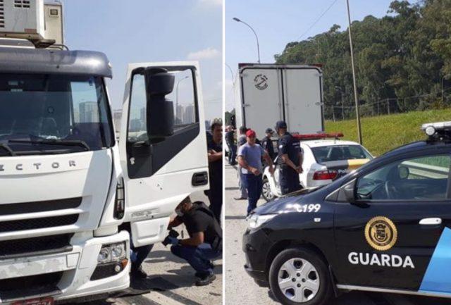 bandido que roubou caminhão é baleado em itapevi