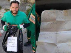 Garis de Osasco recebem bilhetes de moradores durante coleta de lixo em meio à quarentena