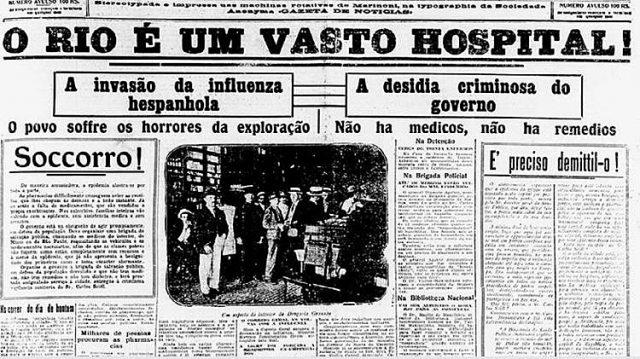 gripe espanhola coronavírus