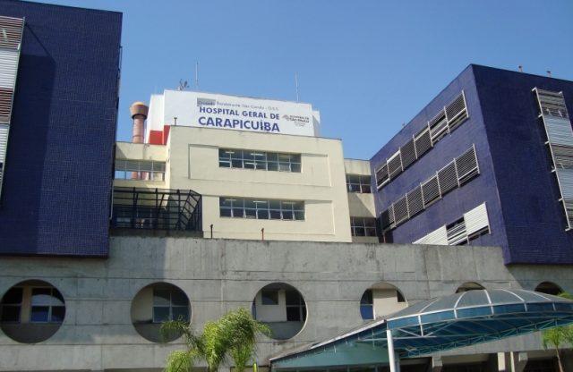 89% dos leitos de UTI do Hospital Geral de Carapicuíba estão ocupados