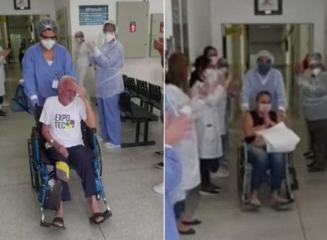 pacientes recebem alta carapicuíba