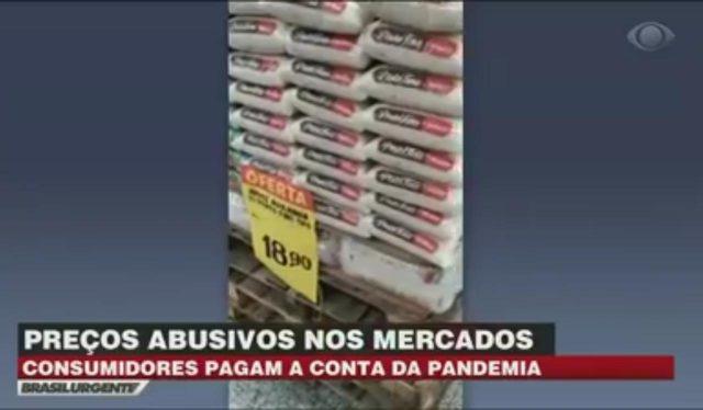 Preços abusivos em supermercados em Carapicuíba são denunciados no Brasil Urgente Vídeo