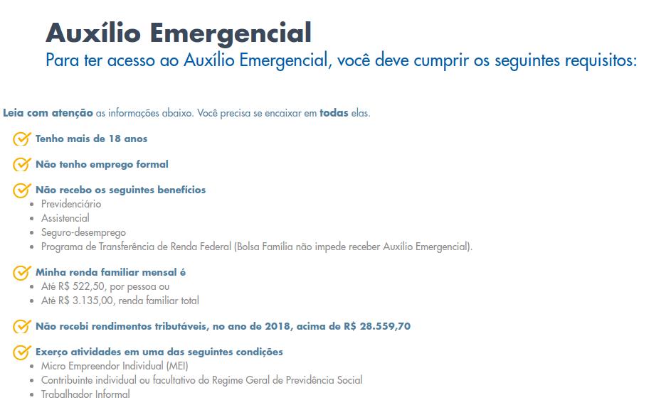 renda emergencial