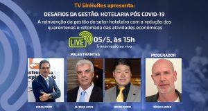 Hotelaria pós covid-19 é tema de live nesta terça-feira