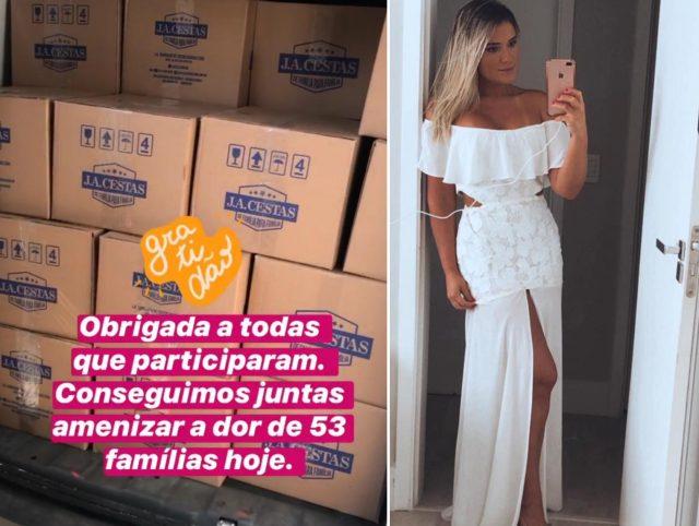 moradora de Alphaville troca vestidos de festa por cestas básicas