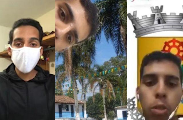 """Jovem do """"Meu País Carapicuíba"""" manda recado sobre uso da máscara"""