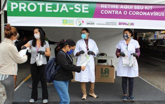 kit sabonete máscara de proteção barueri coronavírus