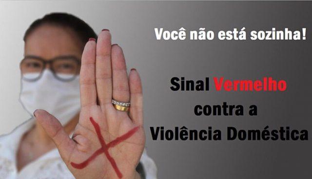 sinal vermelho contra a violência doméstica ana paula rossi Osasco
