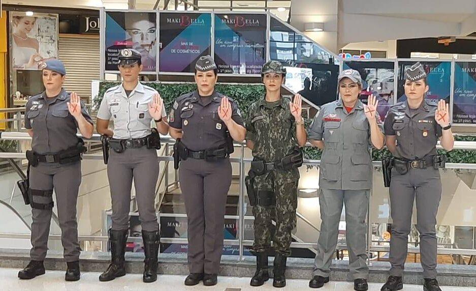 SuperShopping Osasco e PM se unem em apoio à campanha Sinal Vermelho Contra a Violência Doméstica