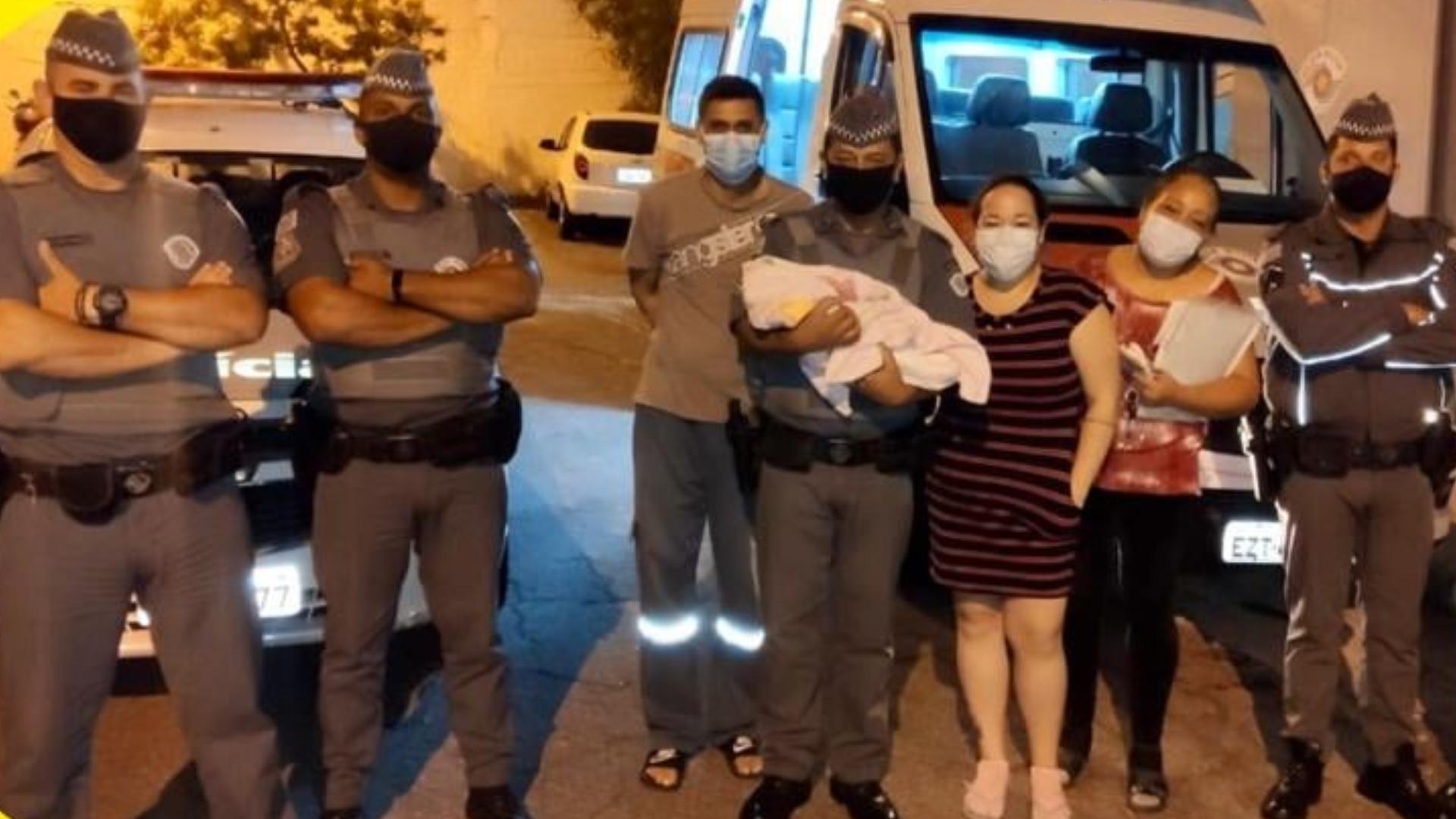 PMs salvam bebê osasco